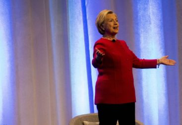 Hillary Clinton on Stage